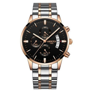Mens Watch Stainless Steel Sport Or Leather Chronograph And Calendar E