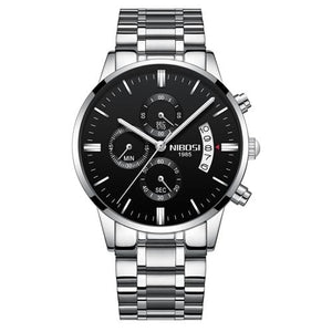 Mens Watch Stainless Steel Sport Or Leather Chronograph And Calendar G