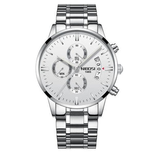 Mens Watch Stainless Steel Sport Or Leather Chronograph And Calendar H