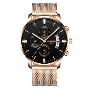 Mens Watch Stainless Steel Sport Or Leather Chronograph And Calendar P