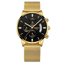 Load image into Gallery viewer, Mens Watch Stainless Steel Sport Or Leather Chronograph And Calendar Q