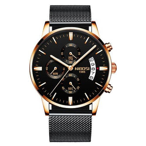 Mens Watch Stainless Steel Sport Or Leather Chronograph And Calendar R