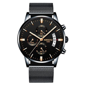 Mens Watch Stainless Steel Sport Or Leather Chronograph And Calendar S