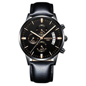 Mens Watch Stainless Steel Sport Or Leather Chronograph And Calendar T