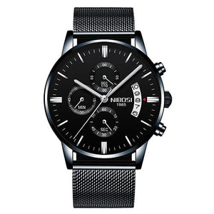 Mens Watch Stainless Steel Sport Or Leather Chronograph And Calendar U