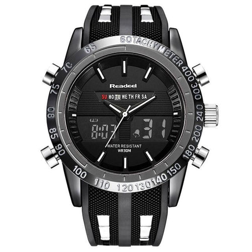 Mens Watch Waterproof Military Sport Luxury Black