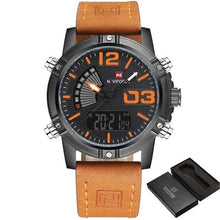 Load image into Gallery viewer, Military Casual Chronograph For Men Black Orange