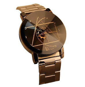 Minimal Gear Mesh Steel Watch For Men And Women Black For Man