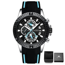 Load image into Gallery viewer, Nylon Sport Chronograph For Men Black Blue
