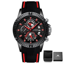 Load image into Gallery viewer, Nylon Sport Chronograph For Men Black Red