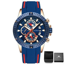 Load image into Gallery viewer, Nylon Sport Chronograph For Men Blue Red