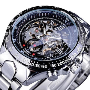Skeleton Mechanic Luxurious Watch For Men J