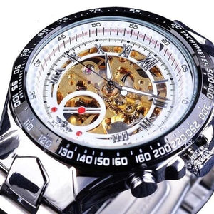 Skeleton Mechanic Luxurious Watch For Men K