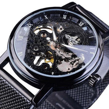 Load image into Gallery viewer, Slim Skeleton Steel Mechanism Watch For Men A