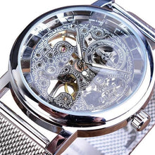 Load image into Gallery viewer, Slim Skeleton Steel Mechanism Watch For Men C