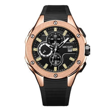 Load image into Gallery viewer, Sports Silicone Chronograph For Men Rose Black
