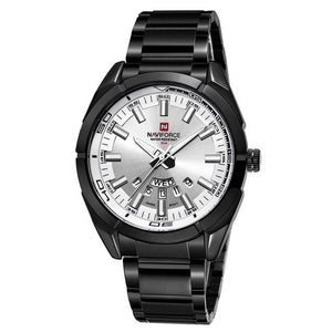 Stainless Steel Casual Masculine Watch For Men Black White
