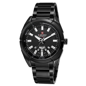 Stainless Steel Casual Masculine Watch For Men Black