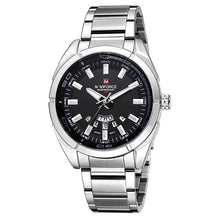 Load image into Gallery viewer, Stainless Steel Casual Masculine Watch For Men Silver Black
