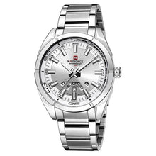 Load image into Gallery viewer, Stainless Steel Casual Masculine Watch For Men Silver White