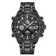 Load image into Gallery viewer, Stainless Steel Chronograph For Men Alarm And Back-Light Black