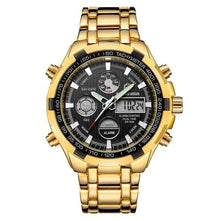 Load image into Gallery viewer, Stainless Steel Chronograph For Men Alarm And Back-Light Gold Black