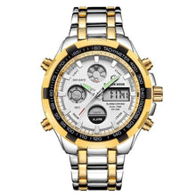 Load image into Gallery viewer, Stainless Steel Chronograph For Men Alarm And Back-Light Silver Gold White