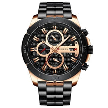 Load image into Gallery viewer, Steel Business Chronograph Luxury Watch For Men Rose Black