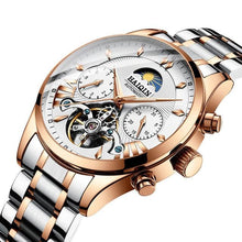 Load image into Gallery viewer, Steel Mechanical Tourbillon Skeleton For Men Gold Silver