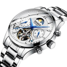 Load image into Gallery viewer, Steel Mechanical Tourbillon Skeleton For Men Silver