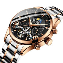 Load image into Gallery viewer, Steel Mechanical Tourbillon Skeleton For Men