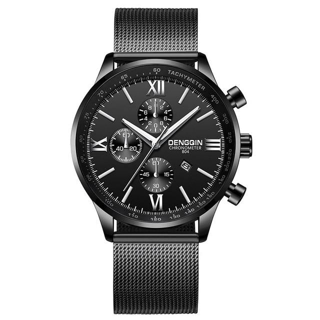 Stitched Steel Chronograph Watch For Men A