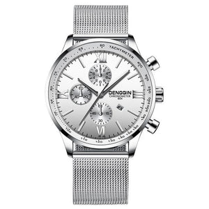 Stitched Steel Chronograph Watch For Men C