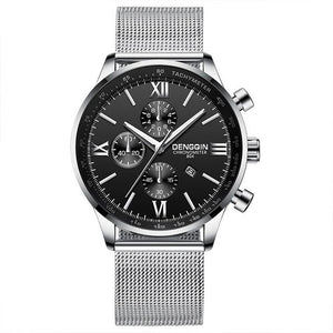 Stitched Steel Chronograph Watch For Men D
