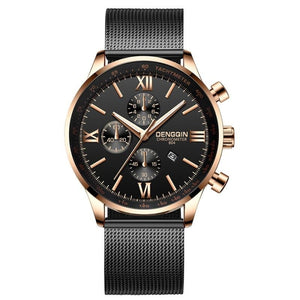 Stitched Steel Chronograph Watch For Men