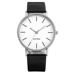 Swiss Fashion Minimal Mens Watch Black And White