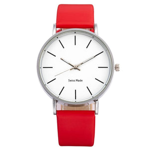 Swiss Fashion Minimal Mens Watch Red