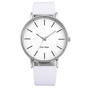 Swiss Fashion Minimal Mens Watch White