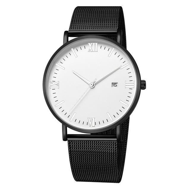 Ultra-Thin Stainless Steel Mesh Mens Watch A