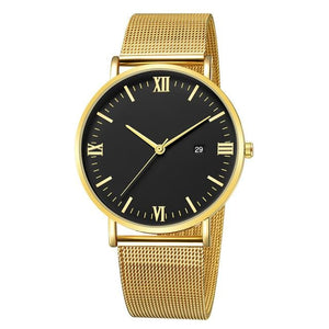 Ultra-Thin Stainless Steel Mesh Mens Watch C