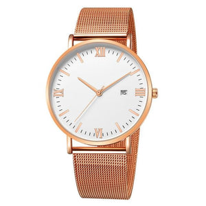 Ultra-Thin Stainless Steel Mesh Mens Watch E