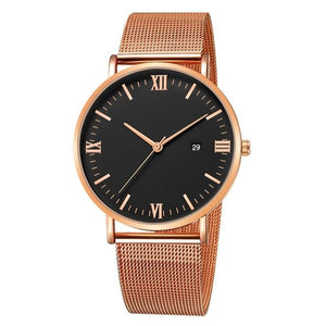 Ultra-Thin Stainless Steel Mesh Mens Watch F