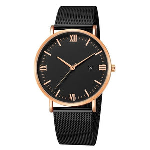 Ultra-Thin Stainless Steel Mesh Mens Watch G