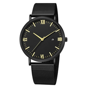 Ultra-Thin Stainless Steel Mesh Mens Watch H