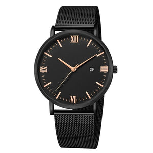 Ultra-Thin Stainless Steel Mesh Mens Watch I