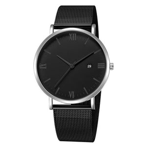 Ultra-Thin Stainless Steel Mesh Mens Watch M