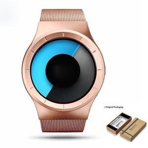 Unisex Futuristic Button-Less Slim Steel Watch B