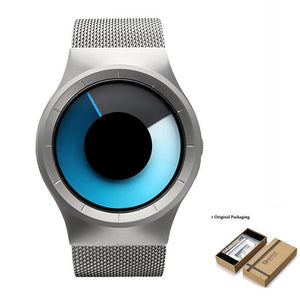 Unisex Futuristic Button-Less Slim Steel Watch C