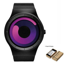 Load image into Gallery viewer, Unisex Futuristic Button-Less Slim Steel Watch D