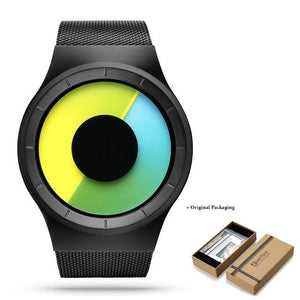 Unisex Futuristic Button-Less Slim Steel Watch I